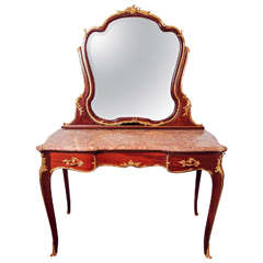 19th Century Signed F. Linke French Dressing Table