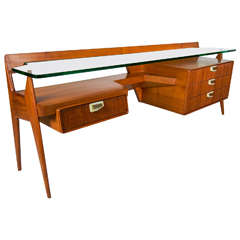 Stylish  Italian 1950s  Chest and Desk by Maspero Galdino Cantù Milano