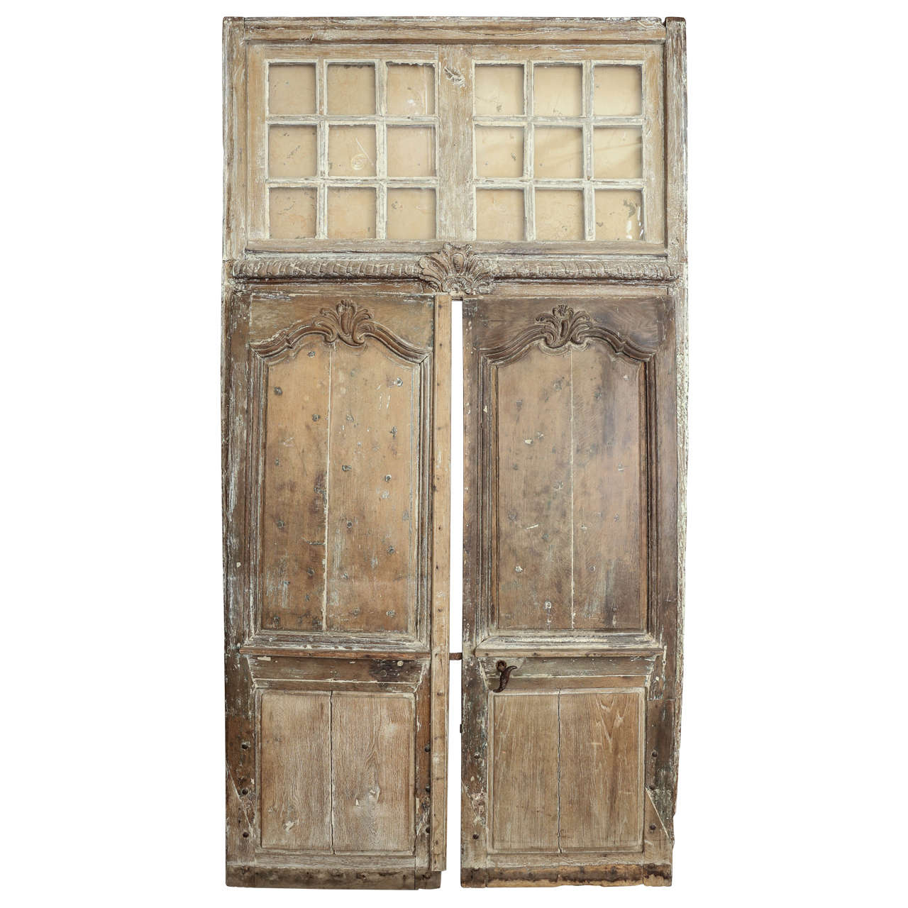Pair of 18th Century Provençal Doors with Transom For Sale  sc 1 st  1stDibs & Pair of 18th Century Provençal Doors with Transom For Sale at 1stdibs
