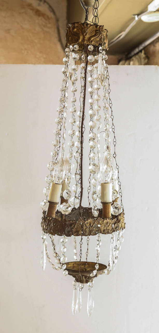 Late 18th Century Italian Chandeler In Tole At 1stdibs