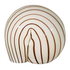 Modernist Vistosi Glass Table Lamp