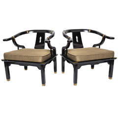 Chinese modern style pair of Chairs