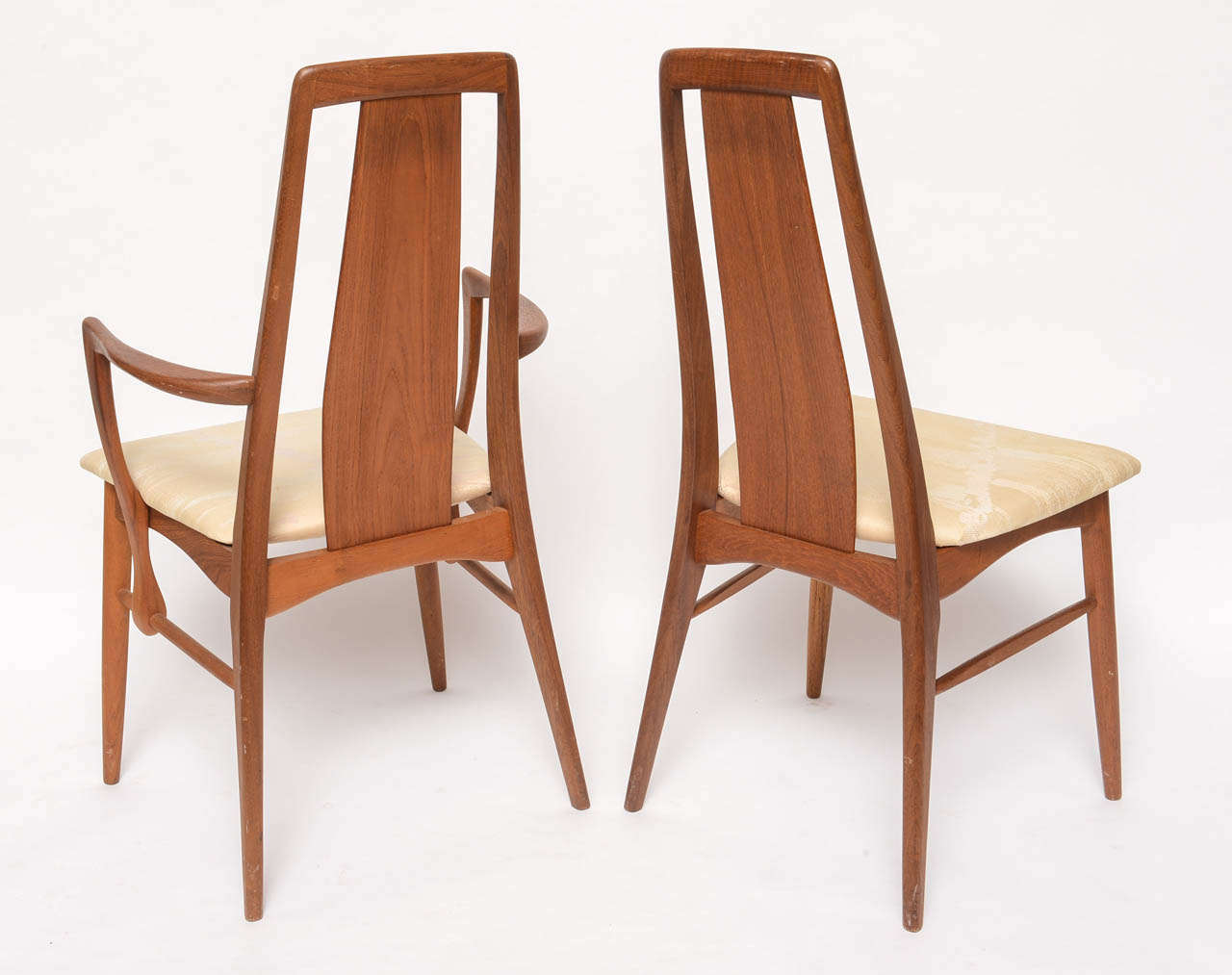 Koefoeds Danish Teak MCM Dining Table With Eight Chairs At 1stdibs