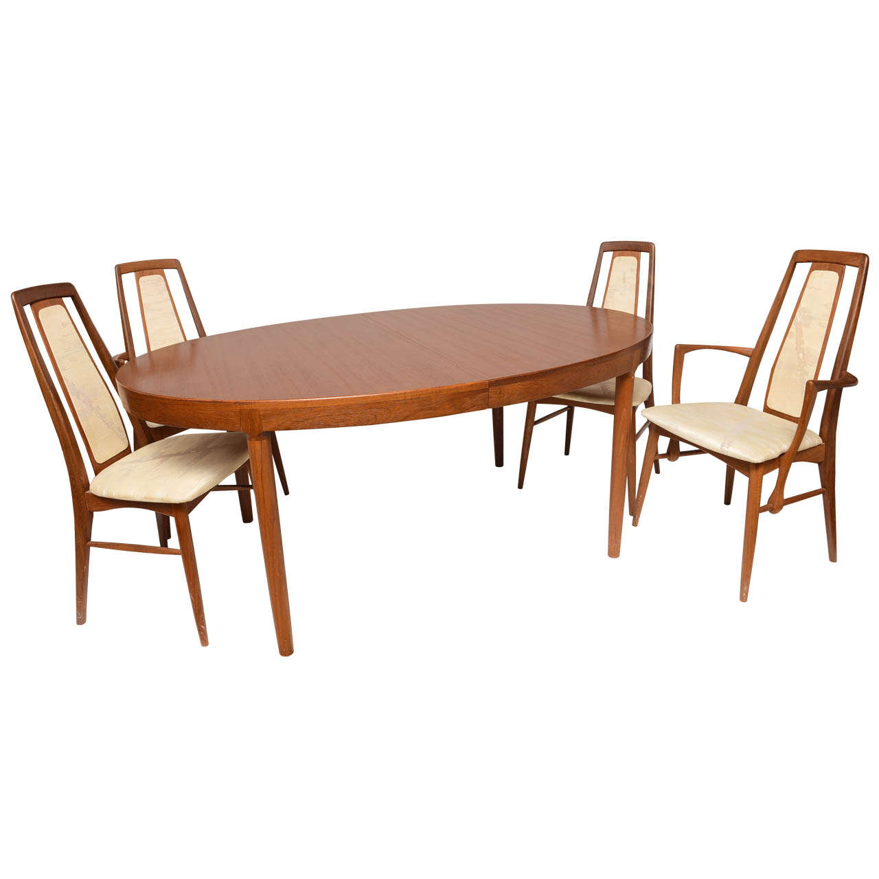 Teak Dining Table And Chairs: Koefoeds Danish Teak MCM Dining Table With Eight Chairs At