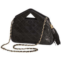 Rare Quilted Chanel Pyramid Handle Bag with Tasseled Zipper