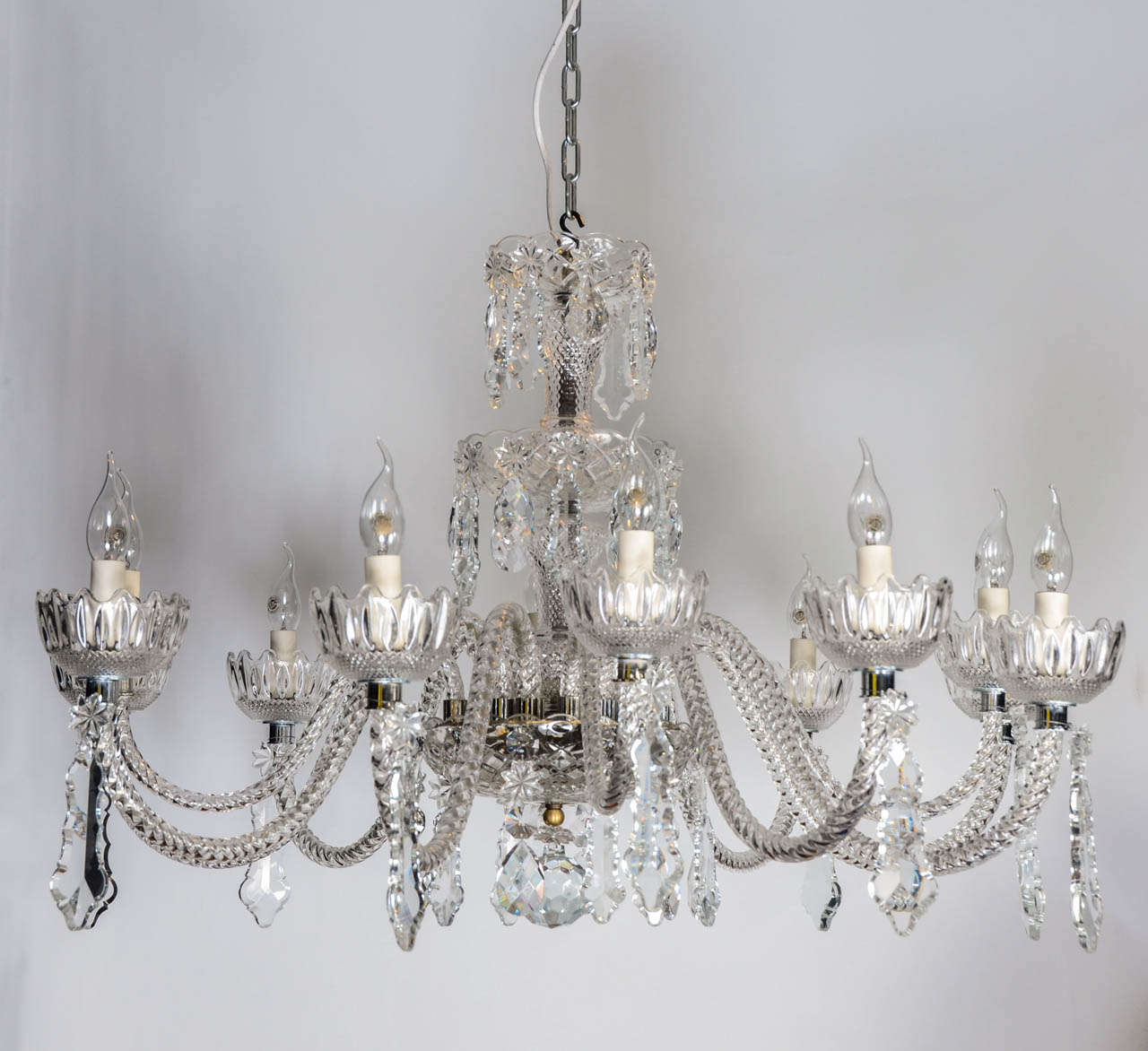 A very elegant 12 lights chandelier. This chandelier could be fitted with  E10 sockets at no extra charge.