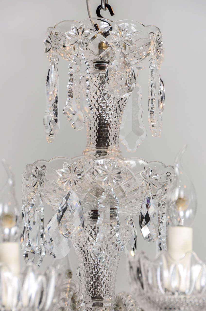 Short Italian Mid Century 12 lights all  Crystal Chandelier For Sale 2