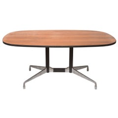 Mid-Century Modern Aluminum & Wood Eames Conference Table
