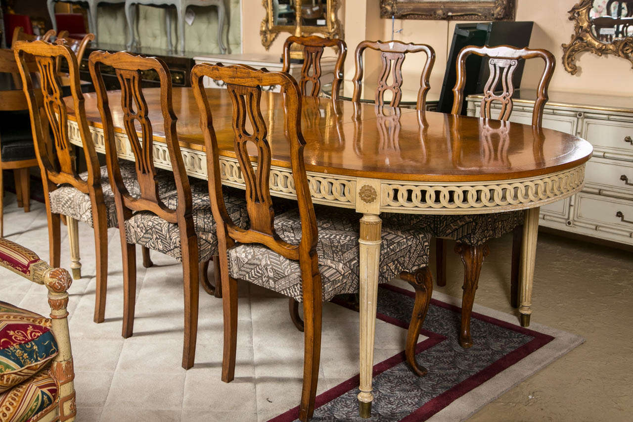 A Fine Custom Quality Dining Table In The Louis XVI Taste By Karges Of Indiana