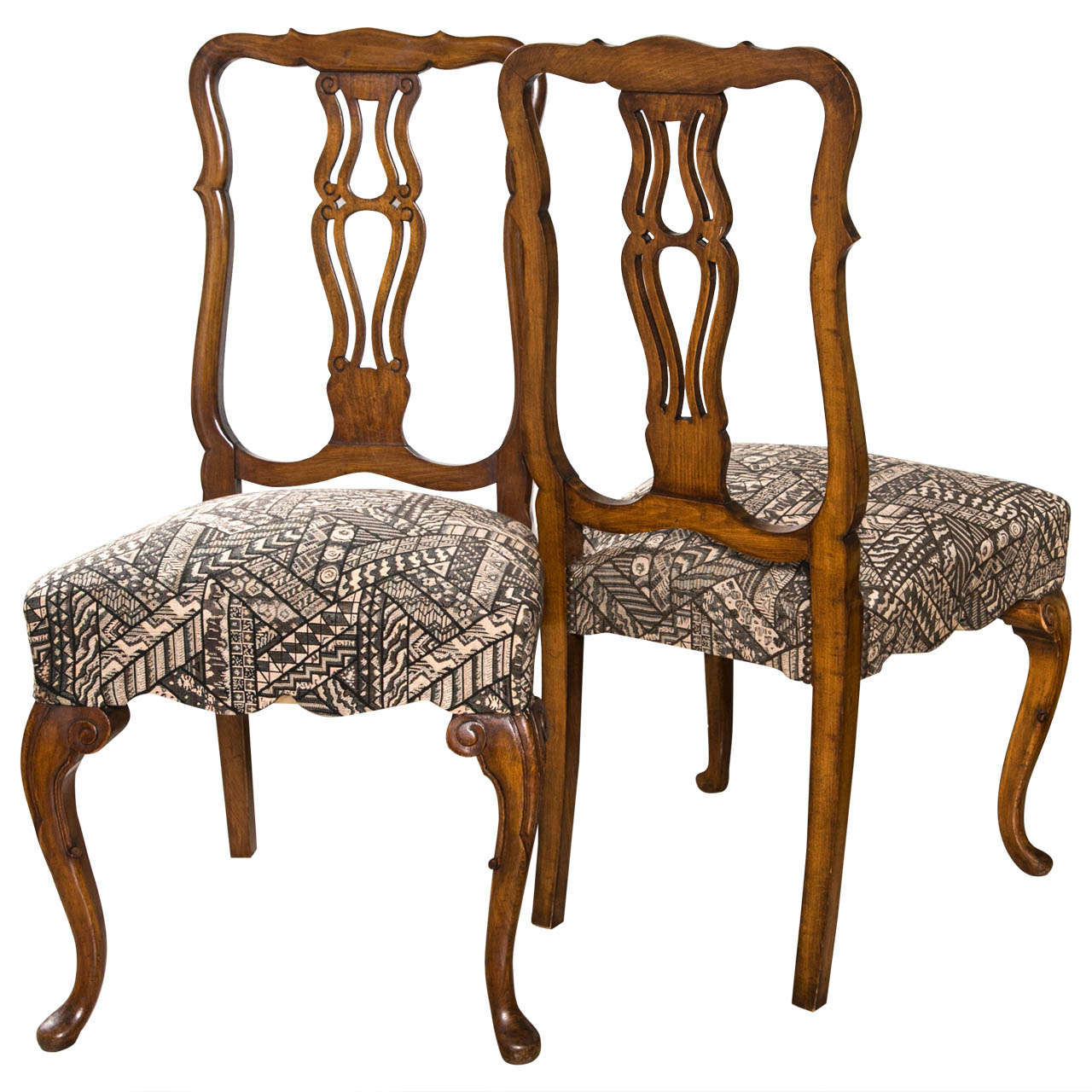 Set of ten queen anne styled dining chairs at 1stdibs for Dining room chairs queen anne