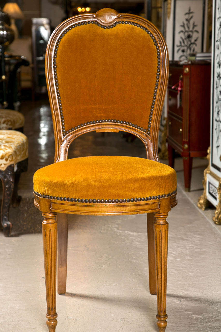 Set Of Two Jansen Louis XVI Style Dining Chairs For Sale At 1stdibs
