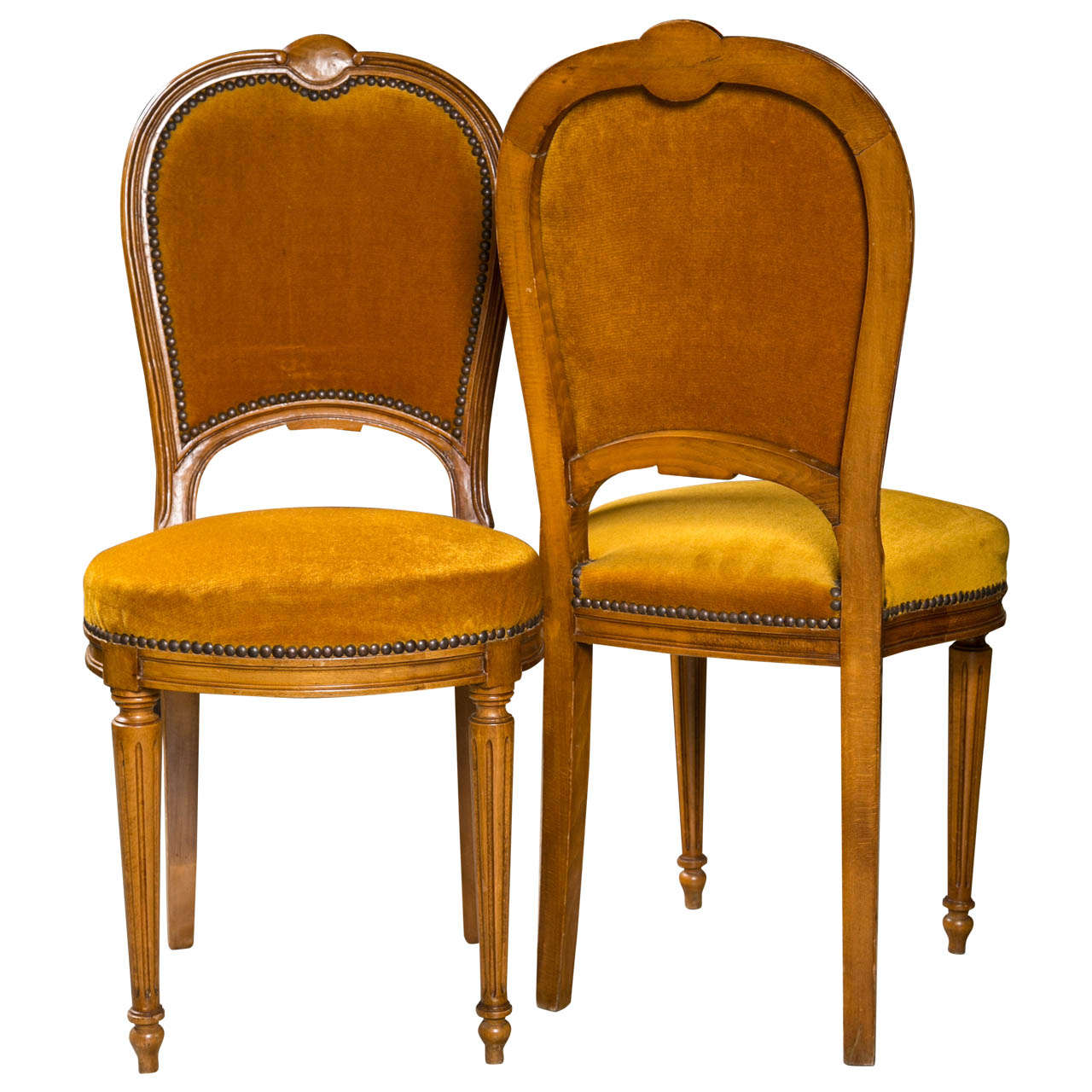 Set of Two Jansen Louis XVI Style Dining Chairs 1Set of Two Jansen Louis XVI Style Dining Chairs For Sale at 1stdibs. Louis Xvi Style Furniture For Sale. Home Design Ideas