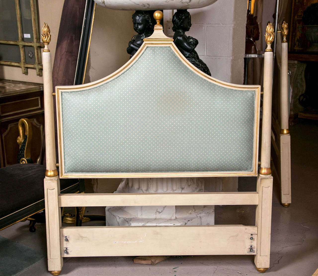Pair Of Paint Decorated Hollywood Regency Twin Headboards