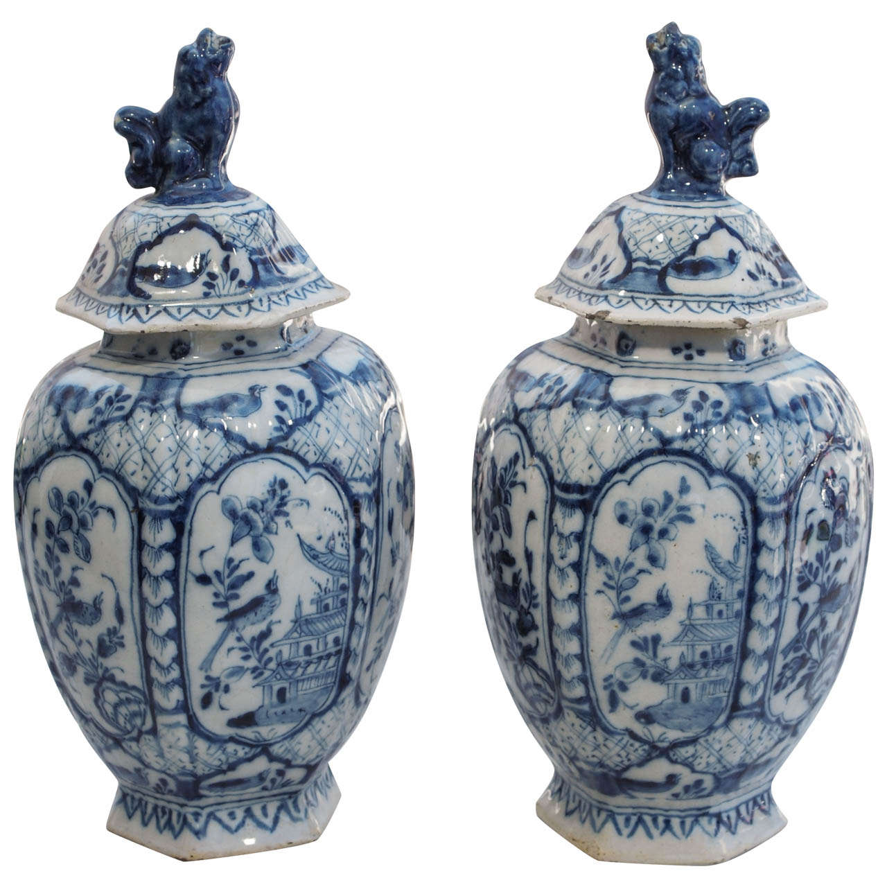 Pair of late 18thearly 19th century delft ribbed covered jars for pair of late 18thearly 19th century delft ribbed covered jars for sale reviewsmspy