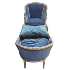 French Louis XVI Style Painted Duchesse Brisee