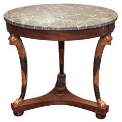 French Empire Gueridon with marble top