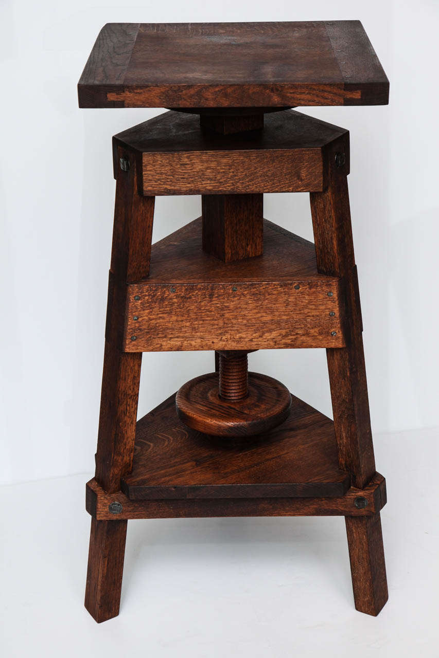 19th Century Inspired Contemporary Sculpture Stand, USA, 2013 For Sale 2