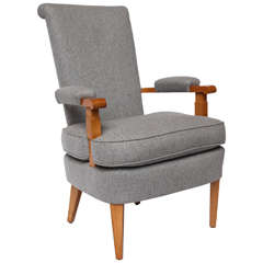 Sycamore Art Deco Armchair by Jules Leleu