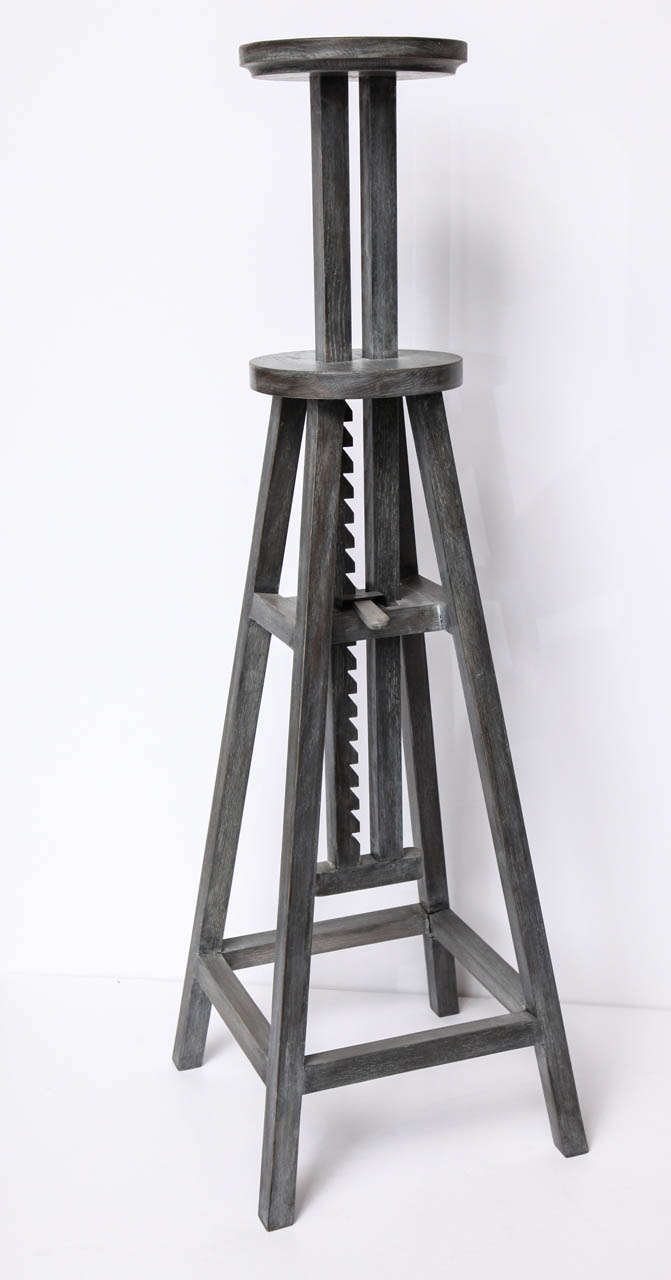 Adjustable Height Contemporary Sculpture Stand At 1stdibs