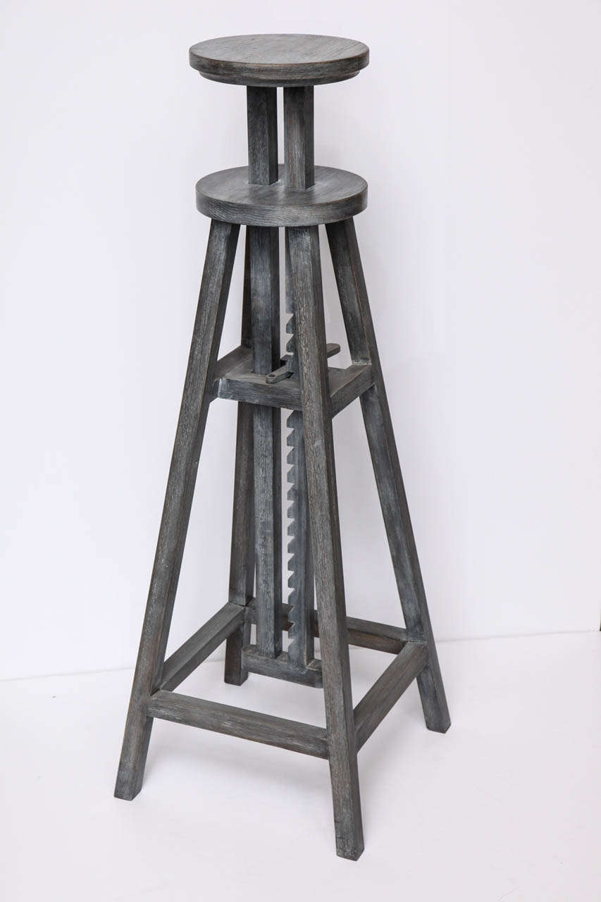 Adjustable Height Contemporary Sculpture Stand For Sale At