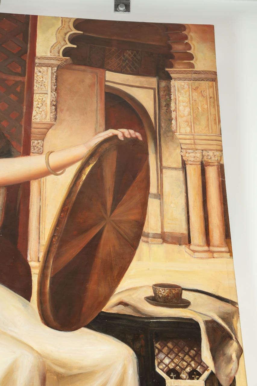 Large Orientalist Moorish Oil on Canvas For Sale 1