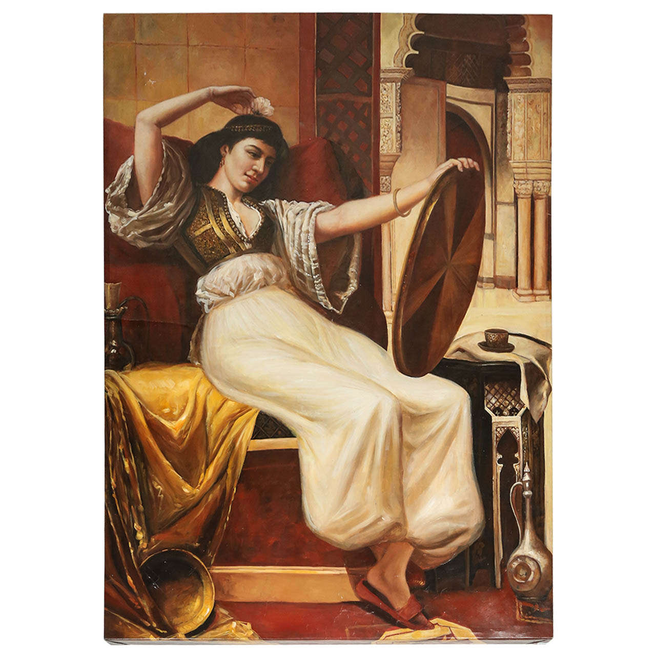 Large Orientalist Moorish Oil on Canvas