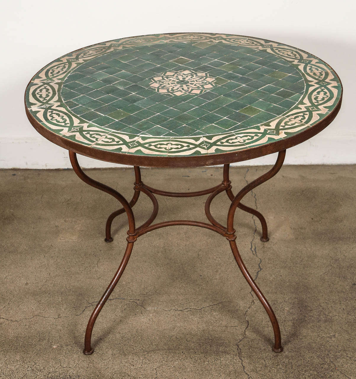Moroccan Mosaic Tile Table Top at 1stdibs