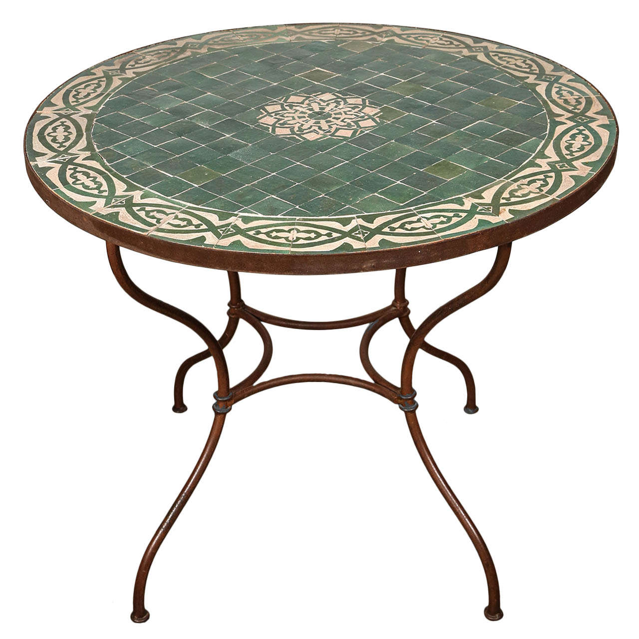 moroccan mosaic tile table top at 1stdibs. Black Bedroom Furniture Sets. Home Design Ideas