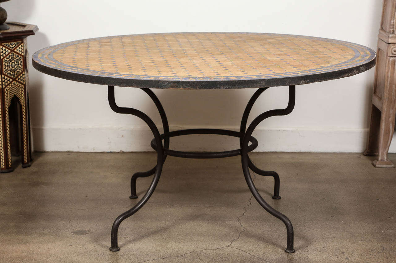outdoor mosaic tile table at 1stdibs