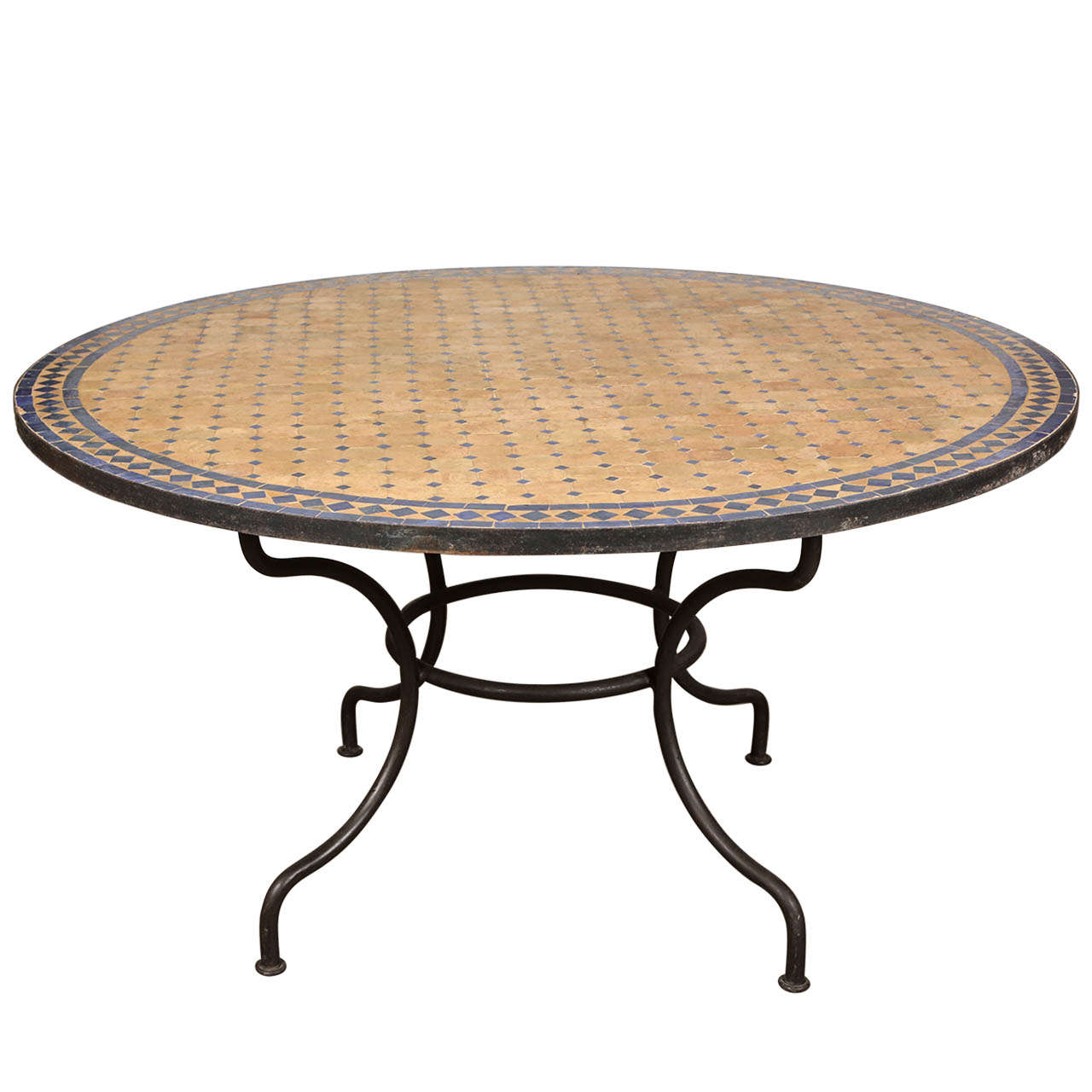 outdoor mosaic tile table at 1stdibs. Black Bedroom Furniture Sets. Home Design Ideas