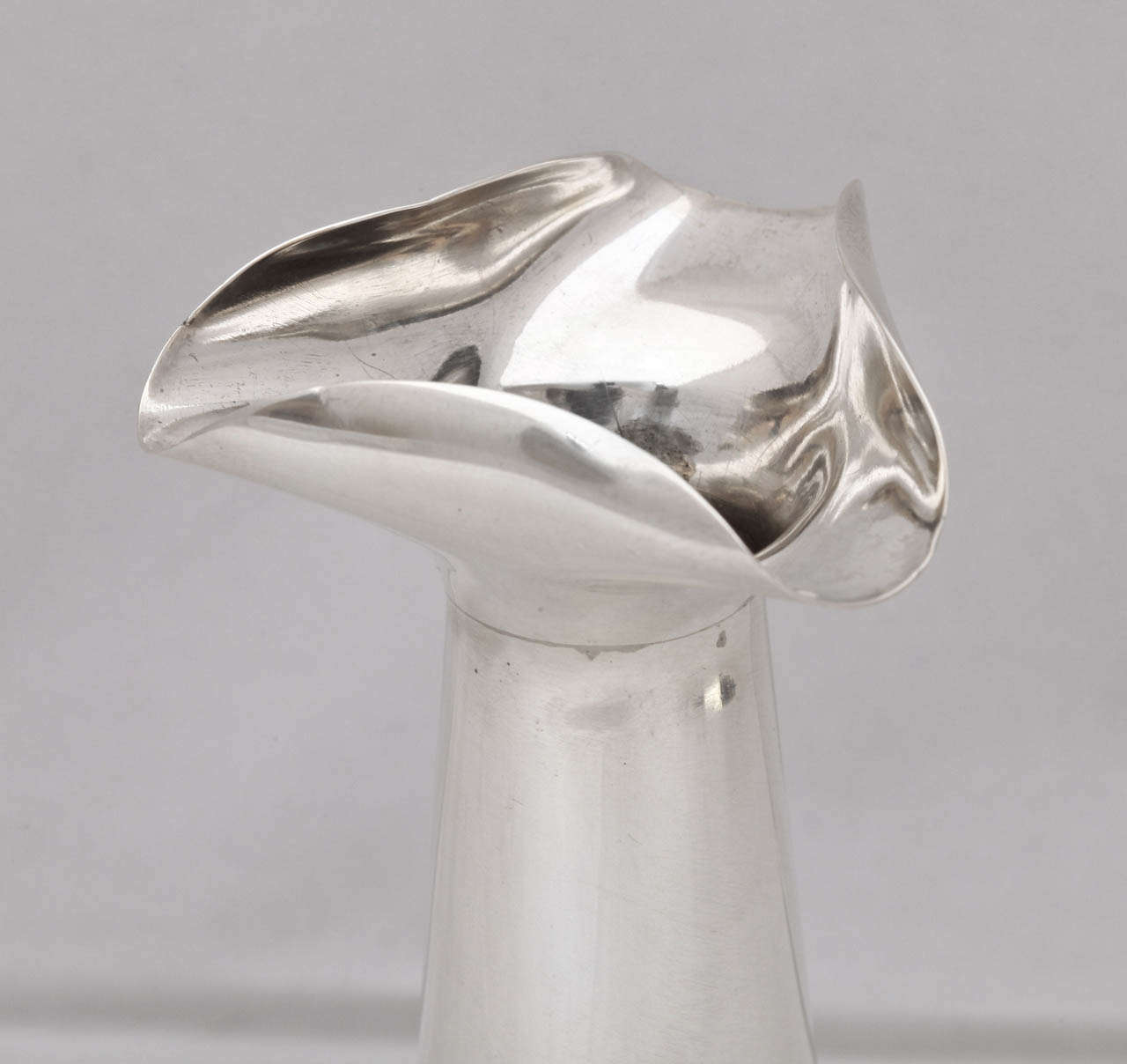 20th Century Unusual Sterling Silver Edwardian Bud Vase For Sale