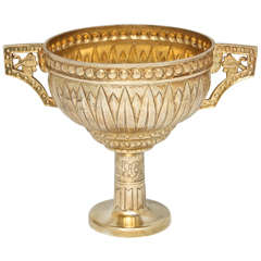 Art Deco Egyptian Revival Sterling Silver-Gilt Pedestal Based Centerpiece