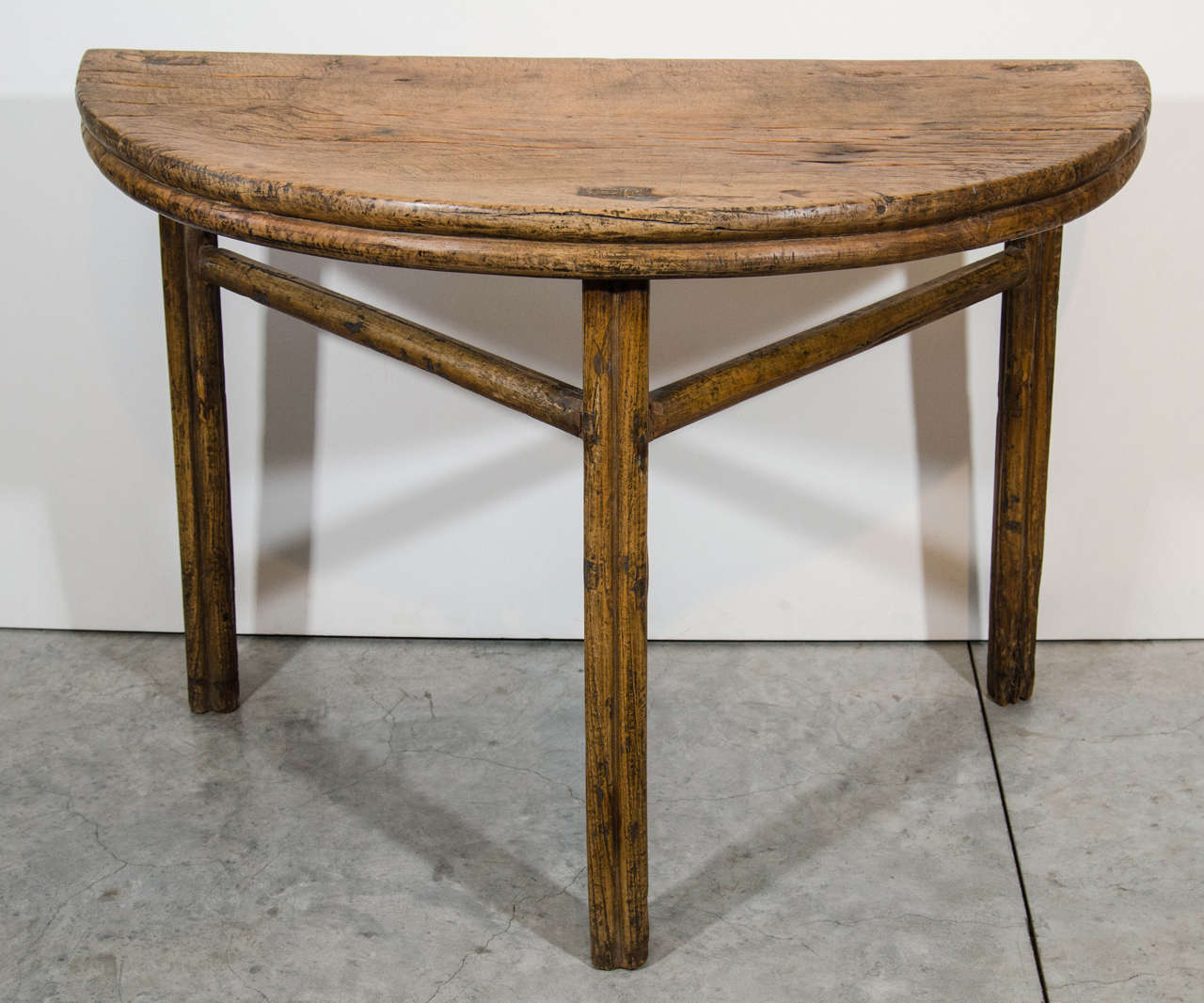 Antique half moon table for sale at 1stdibs for 1 2 moon table