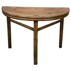 Antique Half Moon Table