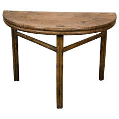 Antique Half Moon Table