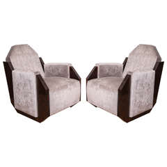Pair of French Art Deco Armchairs, circa 1930