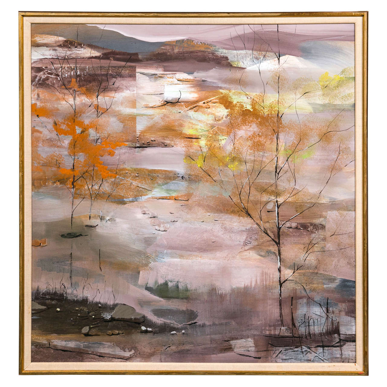 1960s Abstract Landscape Painting