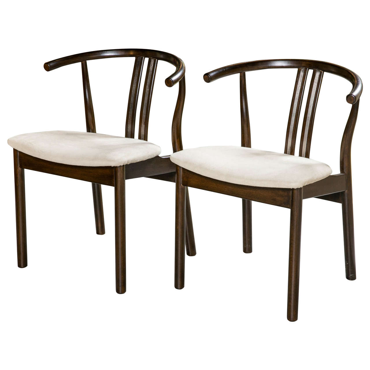 Set of six scandinavian dining chairs for sale