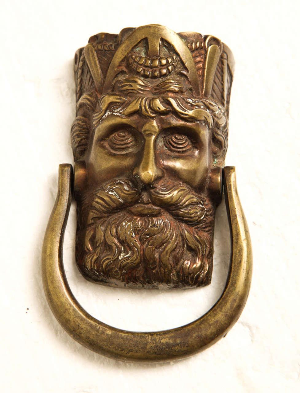 19th Century Irish Figural Door Knocker For Sale At 1stdibs
