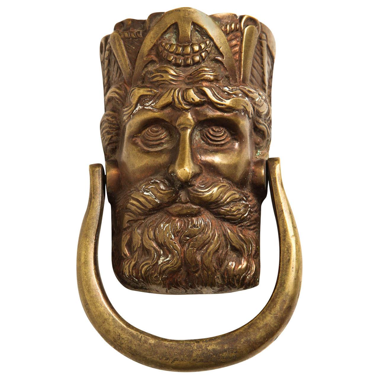 19th Century Irish Figural Door Knocker