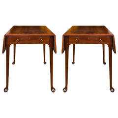 18th Century Pair of Mahogany Pembroke End Tables