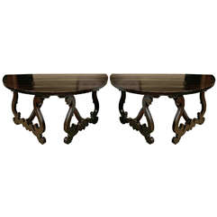 Pair of Large Tuscan Consoles