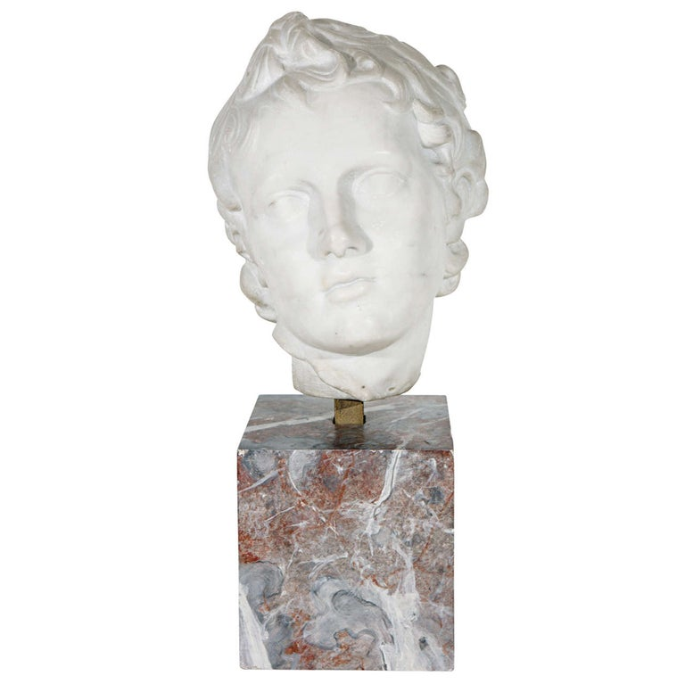 19th Century Marble Bust For Sale