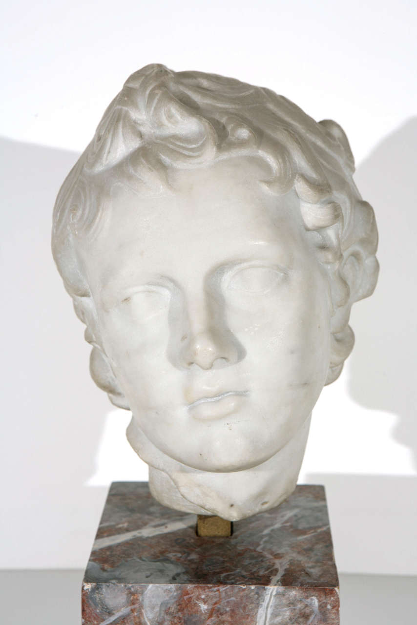 Italian 19th Century Marble Bust For Sale