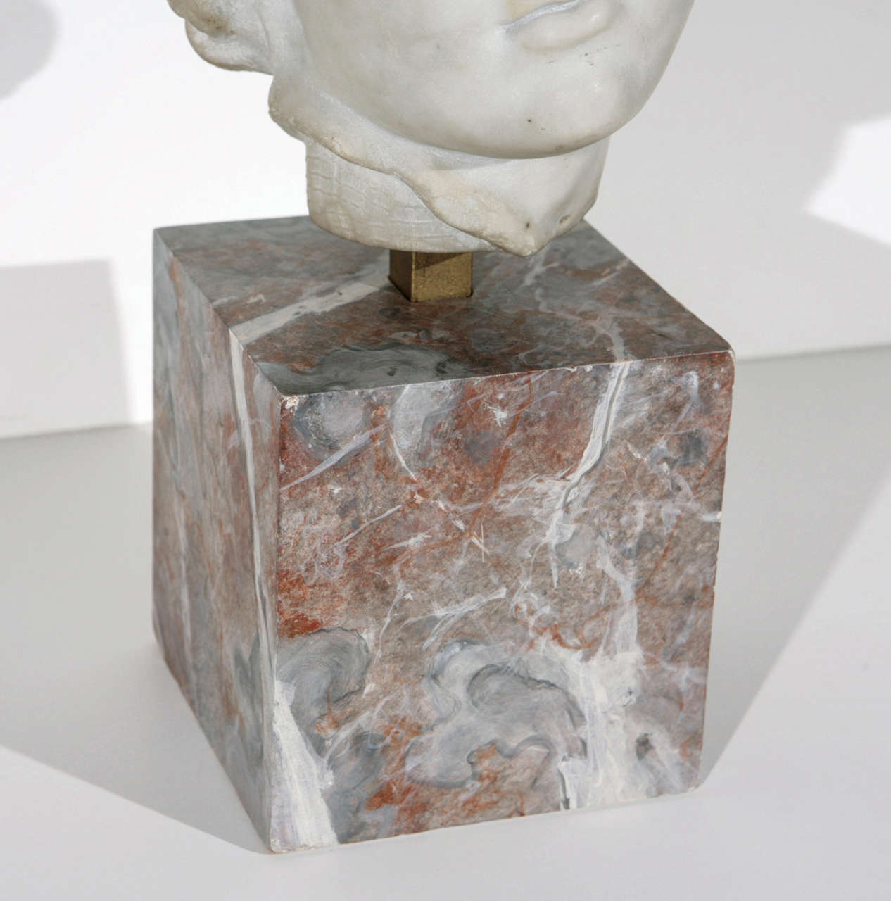 Hand-Carved 19th Century Marble Bust For Sale