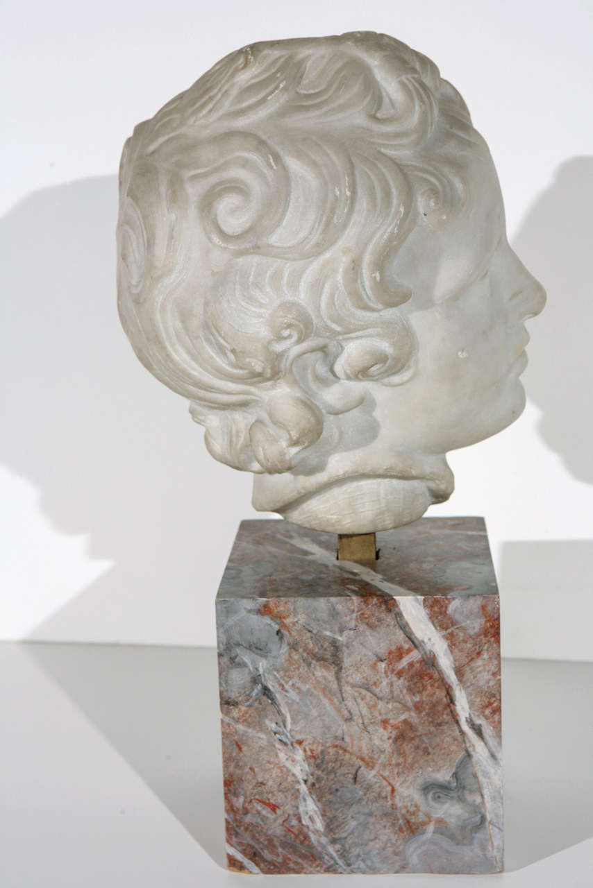 19th Century Marble Bust In Good Condition For Sale In Newport Beach, CA