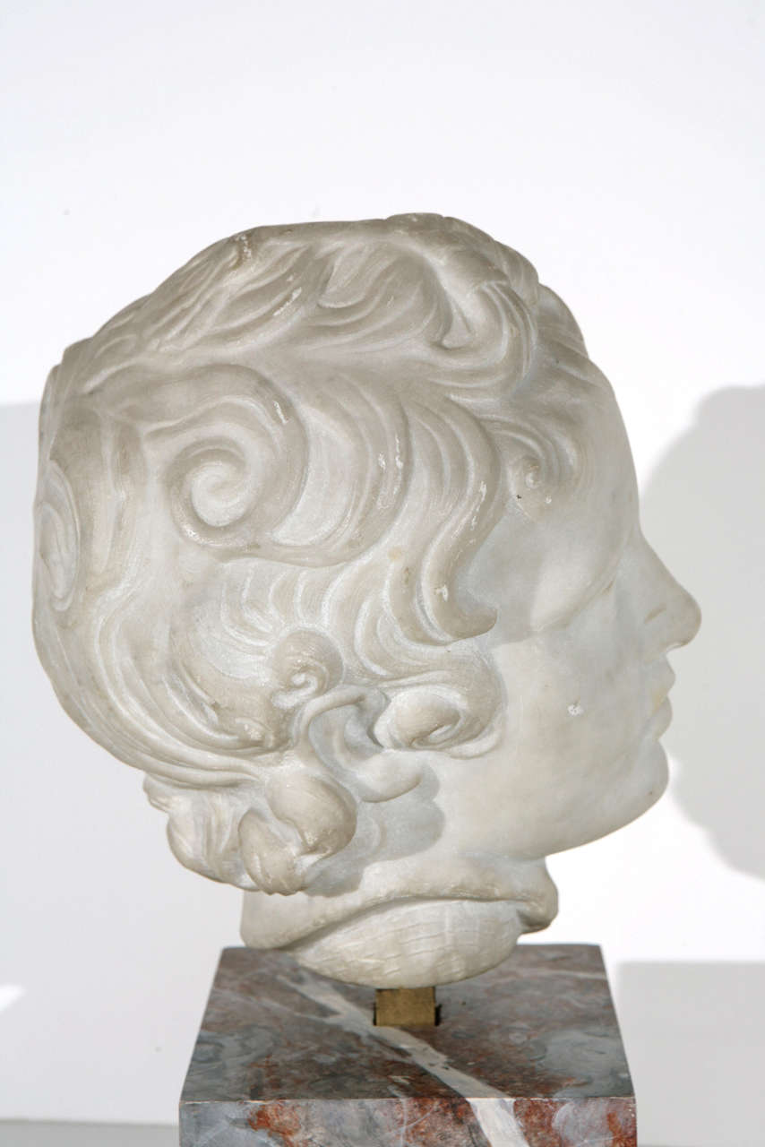 19th Century Marble Bust For Sale 1