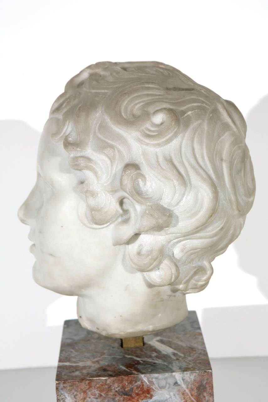 19th Century Marble Bust For Sale 4