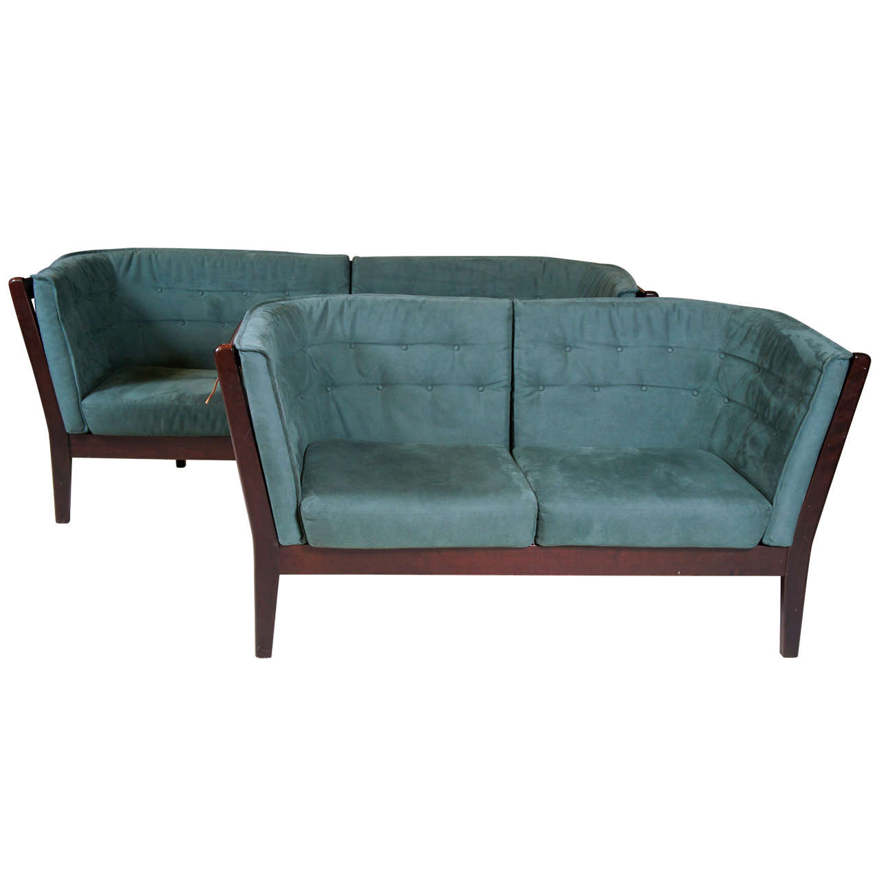 Two Danish Modern Sofas At 1stdibs