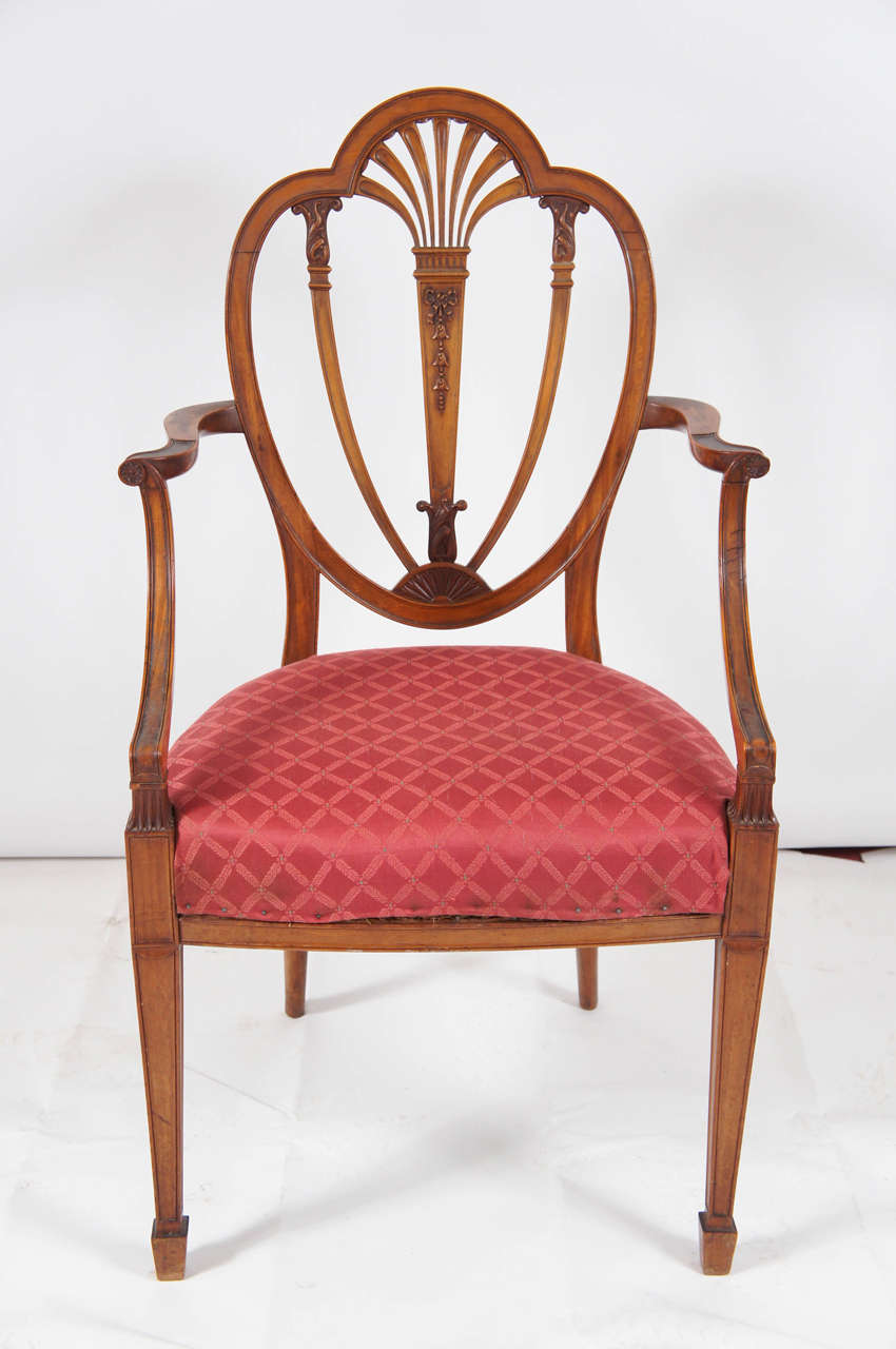 This hand painted hepplewhite style chairs is no longer available - Hepplewhite Style Arm Chair 3